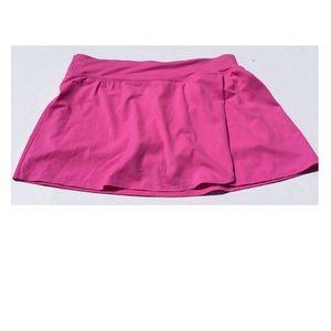 NWOT Kim Rogers Pink Bathing Suit Skort Size Large